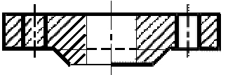 Схема фланца тип 01